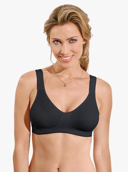 Viania Komfort-BH ohne Bügel - schwarz
