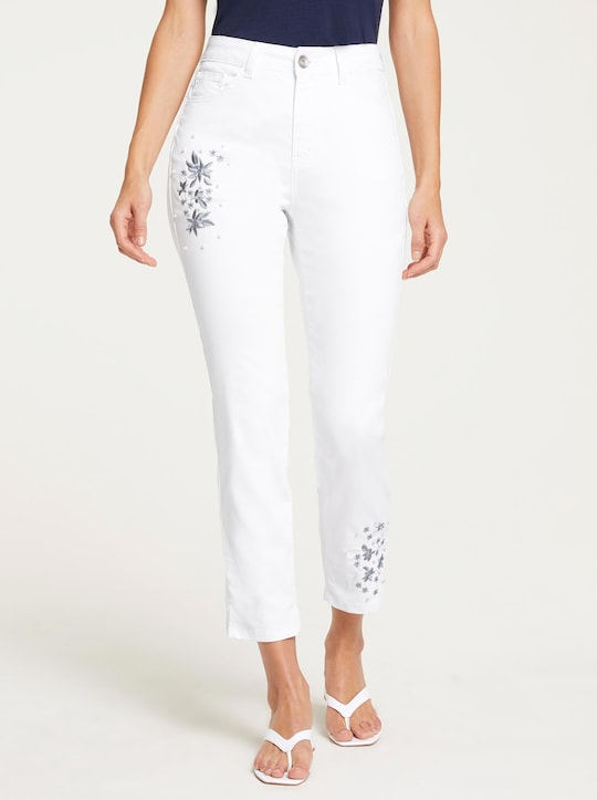 Linea Tesini Push-up-Jeans - weiß