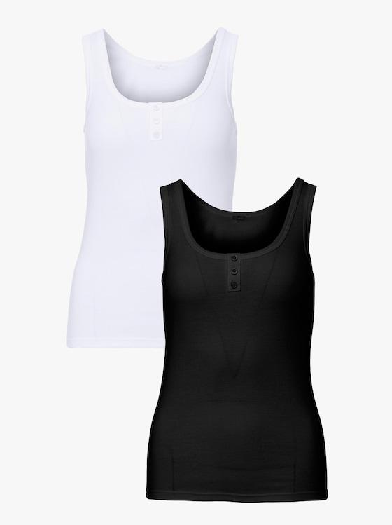 wäschepur Achseltop - weiß + schwarz