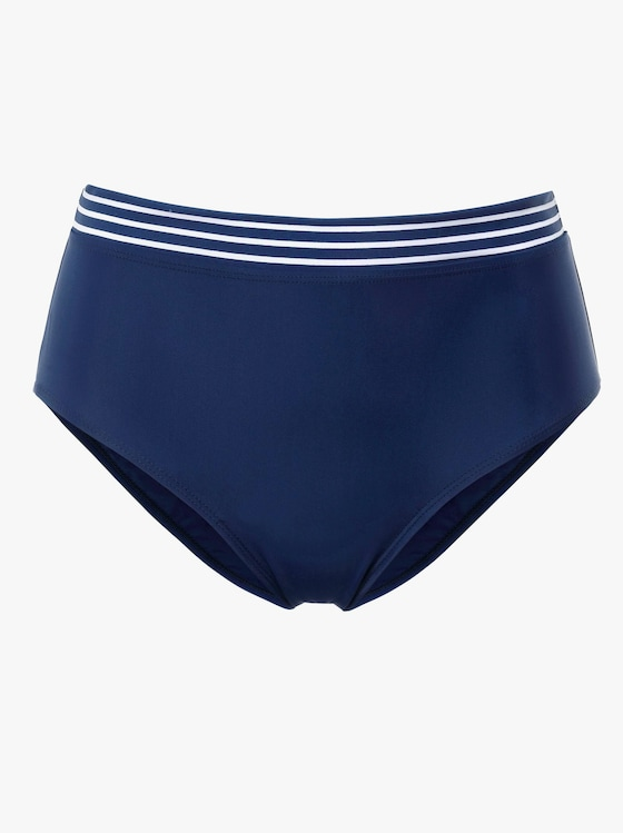 feel good Bikini-Slip - marine-weiß