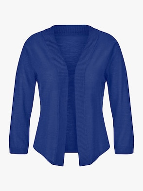 Strickjacke - royalblau