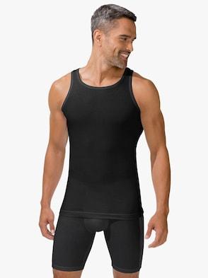 Unterhemd - schwarz-grau-meliert