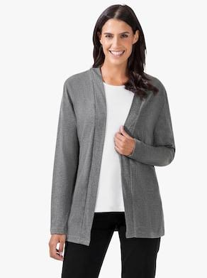 Shirtjacke - grau-meliert