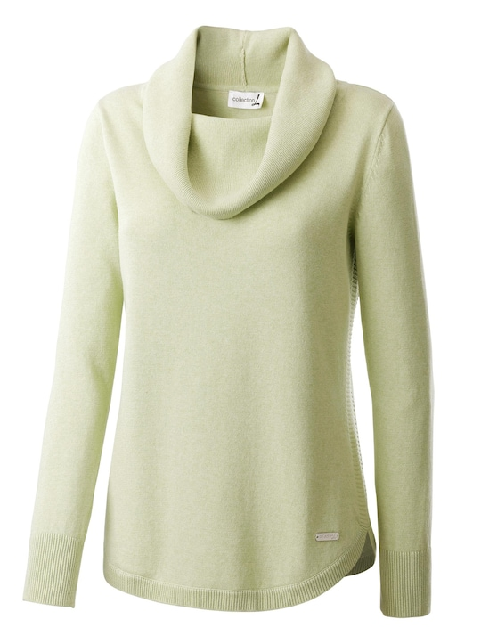 Collection L Pullover - lindegroen gemêleerd