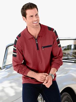 Kurzarm-Poloshirt - bordeaux