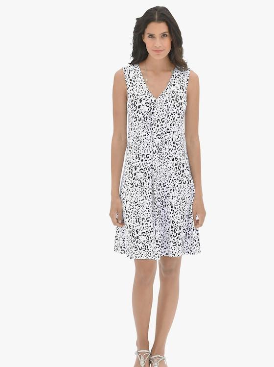 pastunette Sommerkleid - weiß-schwarz-bedruckt