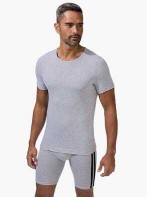 Shirt - grau-meliert