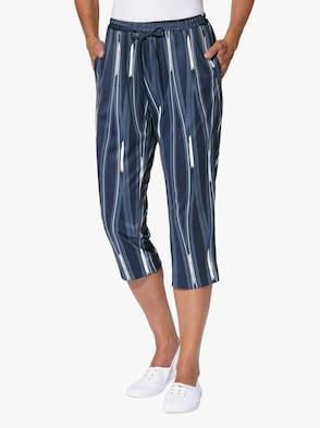 Capri-legging - marine/golfpatroon