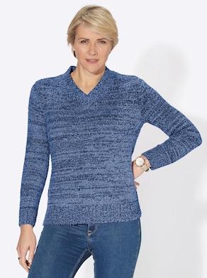 Pullover - nachtblau-meliert