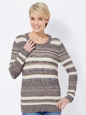 Pullover - schwarz-geringelt