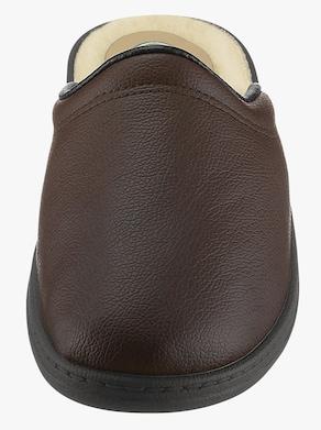 Pantofle s podšívkou - hnědá