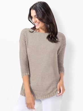 Pullover - sand-meliert