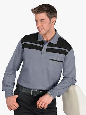 Poloshirt - grau-schwarz
