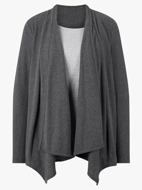 2-in-1-Shirt - anthrazit-grau