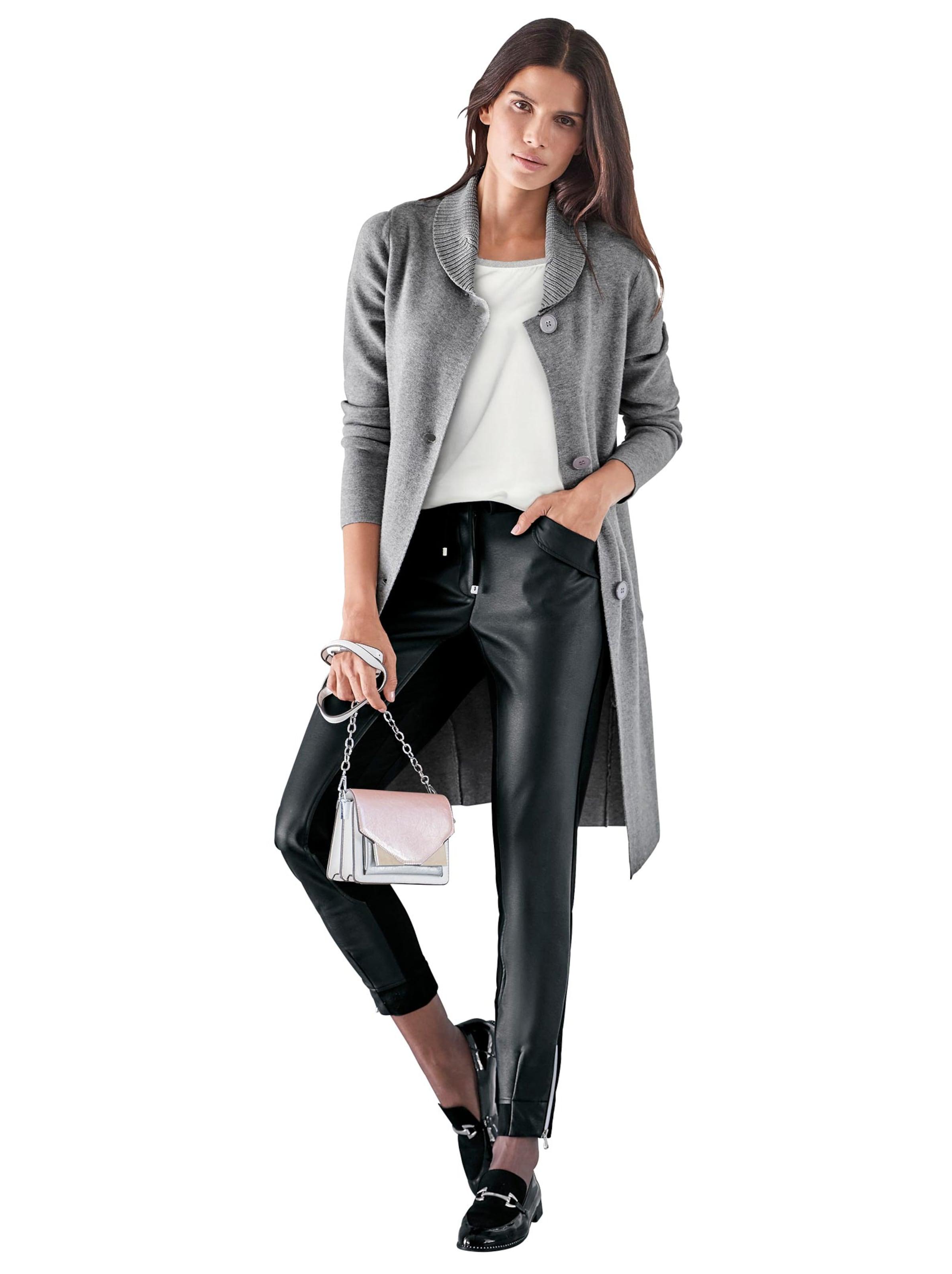 witt weiden - Damen Long-Strickjacke grau-melange