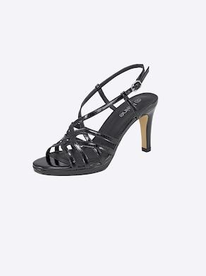 heine sandaaltjes - zwart