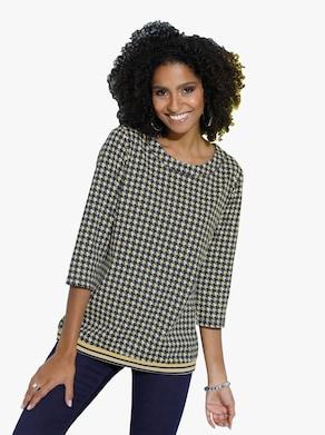 Tričko - Žlto-čierna-vzorovaná