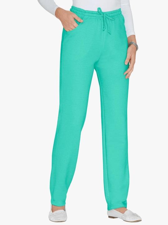 Žerzejové kalhoty - mátová