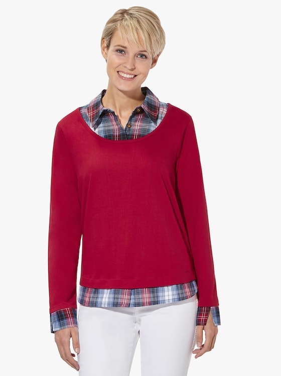 2-in-1-Shirt - rot