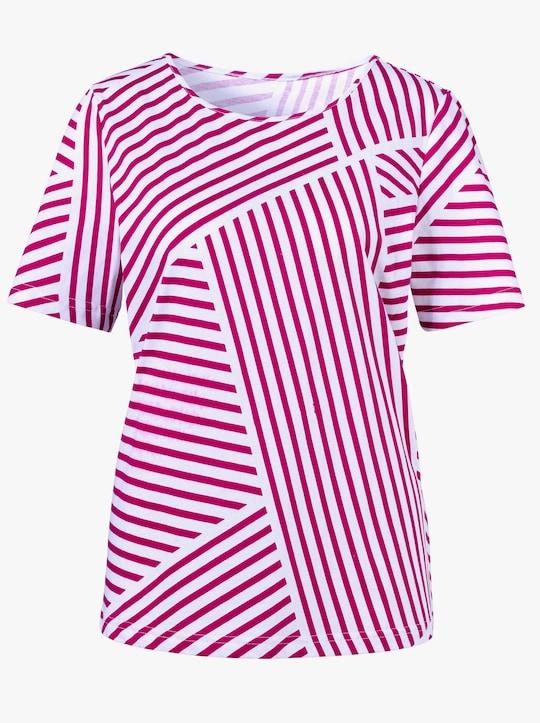 Shirt - fuchsia gestreept