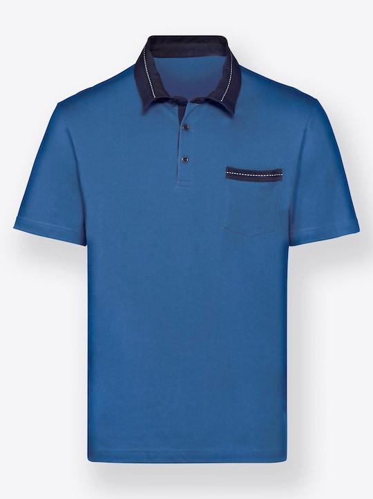 Kurzarm-Shirt - royalblau