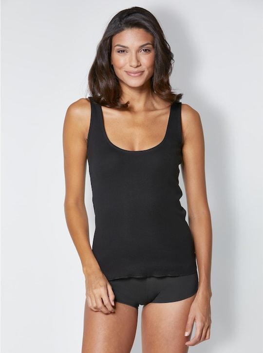 wäschepur Achseltop - schwarz
