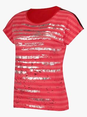 Shirt - rot-silberfarben