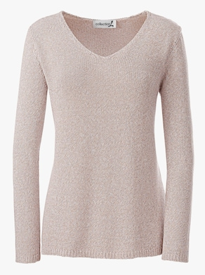Collection L Pullover - beige-meliert
