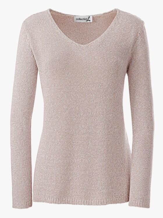 Pullover - beige-meliert