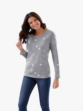 Tričko - šedá-melír