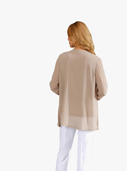 Longline blouse - taupe