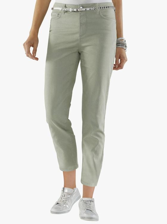 7/8-Jeans - resedagrün