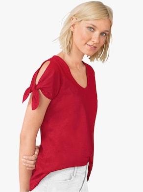Shirt - kirschrot