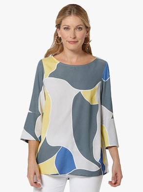 Blouse - geel gedessineerd