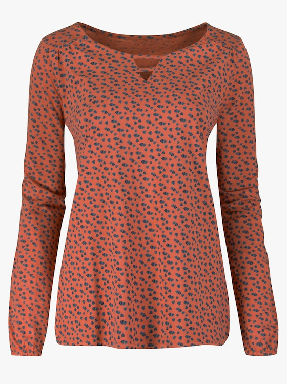 Shirt - rost-marine-bedruckt
