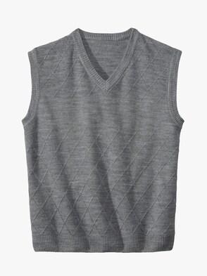 Pullunder - grau-meliert