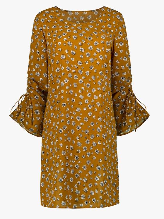 Kleid - gelb-bedruckt