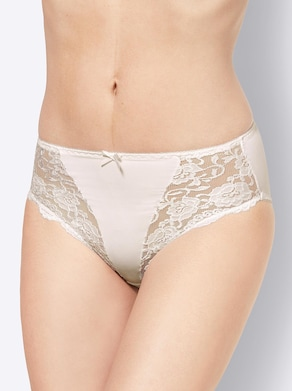 Slip - weiß + puder
