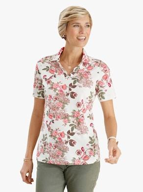 Poloshirt - cyclaam gedessineerd