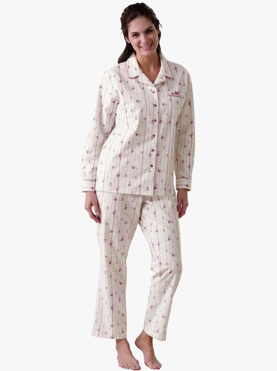 wäschepur Schlafanzug - weiß-rosé