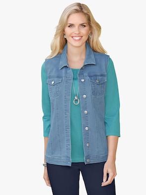 Jeans-Weste - blue-bleached