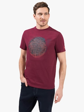 Kurzarm-Shirt - bordeaux