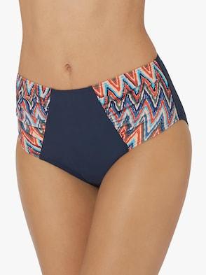 Bikini-Slip - marine-bunt-bedruckt