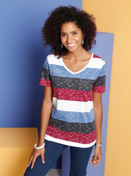 Shirt - blau-geringelt