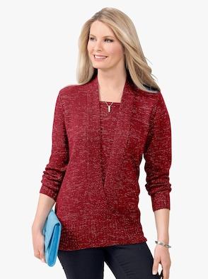 Pullover - rood gemêleerd