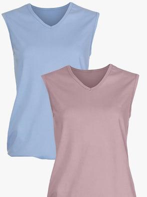 Shirts - mauve + bleu