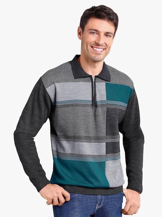 Pullover - anthrazit-petrol