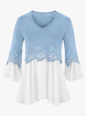 Fair Lady Shirt - eisblau-weiß