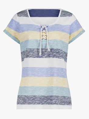 Collection L Shirt - mint-gestreift