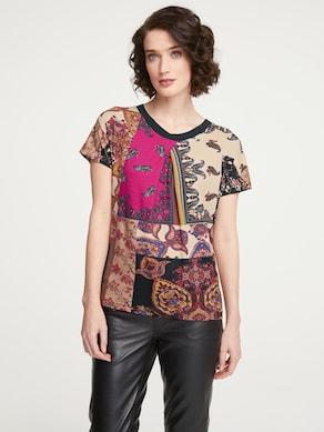 Linea Tesini Druck-Shirt - bunt